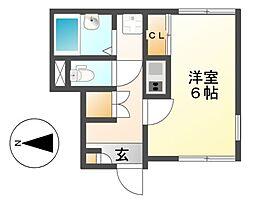 レオネクストウイング6[2階]の間取り