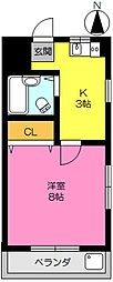 アムール鍋島[612号室]の間取り