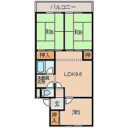 畑野マンション[2階]の間取り