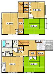 [一戸建] 愛媛県新居浜市久保田町3丁目 の賃貸【/】の間取り