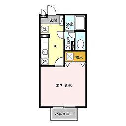 クレアール[1階]の間取り