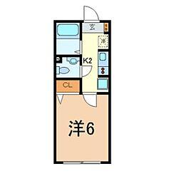 東京都調布市小島町2の賃貸アパートの間取り