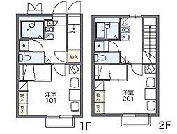 レオパレスDELIGHT[1階]の間取り