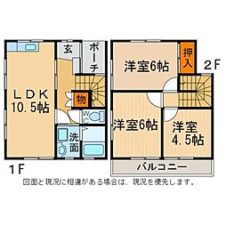 [一戸建] 徳島県板野郡藍住町富吉字富吉 の賃貸【/】の間取り