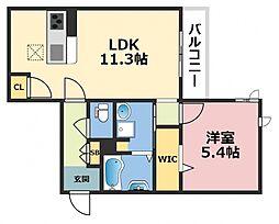 (仮称)東大阪市シャーメゾン上小阪3丁目[303号室号室]の間取り