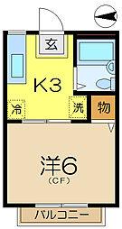 山口ハイツ5[2階]の間取り
