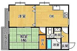 サンパレス21夙川東[1階]の間取り