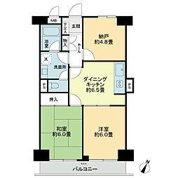 ライオンズマンション青葉台第5[3階]の間取り