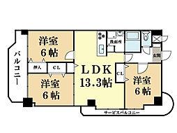 アデストビル LIFESPACE[3階]の間取り