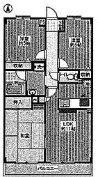 新町ハイツ[2階]の間取り