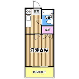 東京都昭島市福島町3丁目の賃貸マンションの間取り