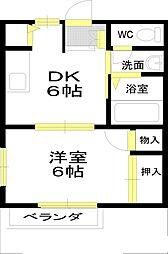 和泉中央駅徒歩圏[202号室]の間取り
