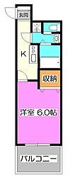 東京都練馬区石神井町6丁目の賃貸マンションの間取り