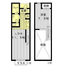 [テラスハウス] 東京都豊島区長崎3丁目 の賃貸【/】の間取り