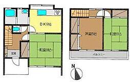 [テラスハウス] 神奈川県高座郡寒川町倉見 の賃貸【神奈川県 / 高座郡寒川町】の間取り