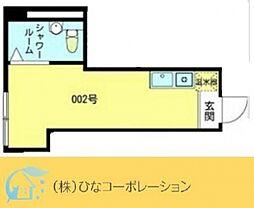 JR山手線 東京駅 徒歩12分の賃貸マンション 地下1階ワンルームの間取り