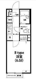東京都江東区亀戸7丁目の賃貸マンションの間取り