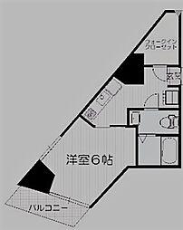 東京都豊島区北大塚3丁目の賃貸マンションの間取り