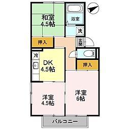 ピュアハイム1[2階]の間取り
