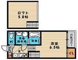 (仮称)旭区高殿六丁目B・SKHコーポ[102号室号室]の間取り