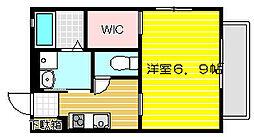 兵庫県姫路市飾磨区玉地の賃貸アパートの間取り