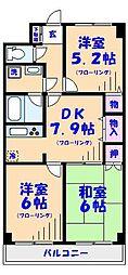 アビタシオン薮崎[2階]の間取り