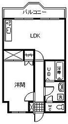 ぐらんしゅーるA[301号室]の間取り