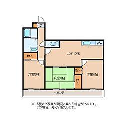 静岡県静岡市葵区安東3丁目の賃貸マンションの間取り