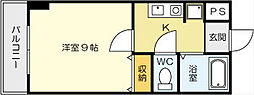 福岡県北九州市小倉北区黄金1丁目の賃貸マンションの間取り