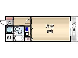 コーポラスムツミ[1階]の間取り