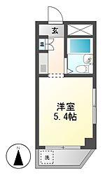 ドール東海通[6階]の間取り
