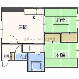 三河荘[2階]の間取り