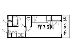 セレーネ田辺3A[211号室]の間取り