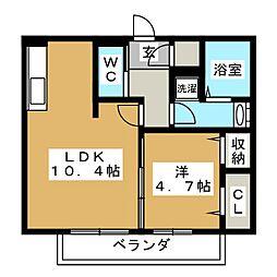 仮)D-room大垣市宿地町[2階]の間取り