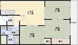 ドリーム松村[1階]の間取り