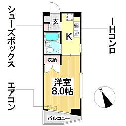 愛知県名古屋市瑞穂区豊岡通2丁目の賃貸マンションの間取り