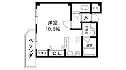 レグルス桜夙川[204号室]の間取り