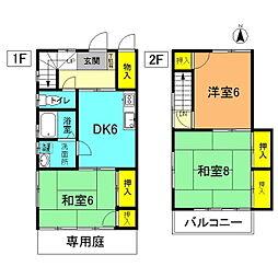 [テラスハウス] 神奈川県平塚市東中原2丁目 の賃貸【/】の間取り