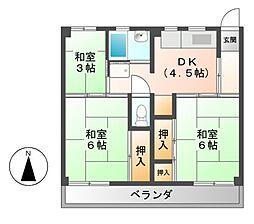 ビレッジハウス各務原[2階]の間取り