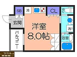 大阪府堺市堺区一条通の賃貸アパートの間取り