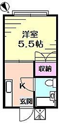 第2鈴木コーポ[2階]の間取り