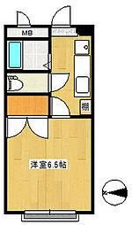 リーベンス黒松[3階]の間取り