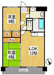 コンフォーレ[3階]の間取り