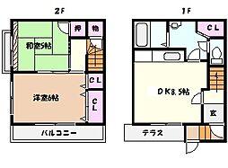 [一戸建] 兵庫県芦屋市宮川町 の賃貸【/】の間取り