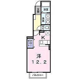 ジュネスメゾン(篠ノ井二ツ柳)[102号室号室]の間取り