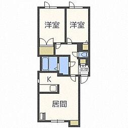 北海道札幌市東区北三十一条東5丁目の賃貸アパートの間取り