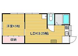 新潟県新潟市中央区下所島1丁目の賃貸アパートの間取り