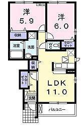 セレブリティ B[105号室]の間取り