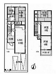 能勢電鉄妙見線 山下駅 バス32分 上宿野下車 徒歩8分 4LDKの間取り