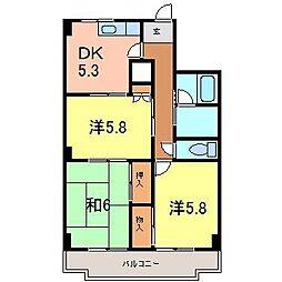 レジデンス横山[104号室]の間取り